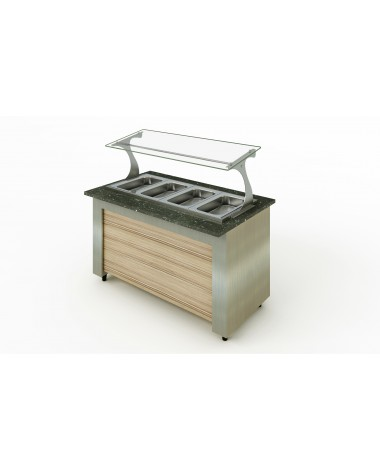Buffet Refrigerado Allkit para 08 GNs ½