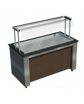 Buffet Refrigerado Allkit com pista - 1,23m